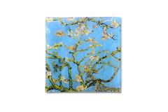 Тарелка квадратная Цветущий миндаль (Ван Гог) без инд.упаковки Carmani