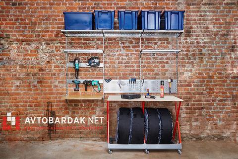Верстак — стеллаж для хранения шин