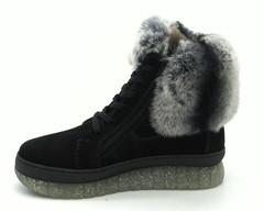 Зимние ботинки с меховой отделкой