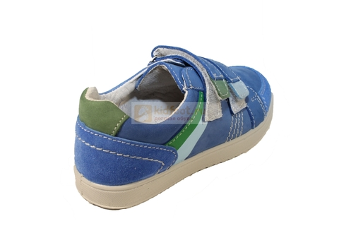 Полуботинки на липучках для мальчиков Котофей 432129-21, цвет голубой. Изображение 3 из 7.