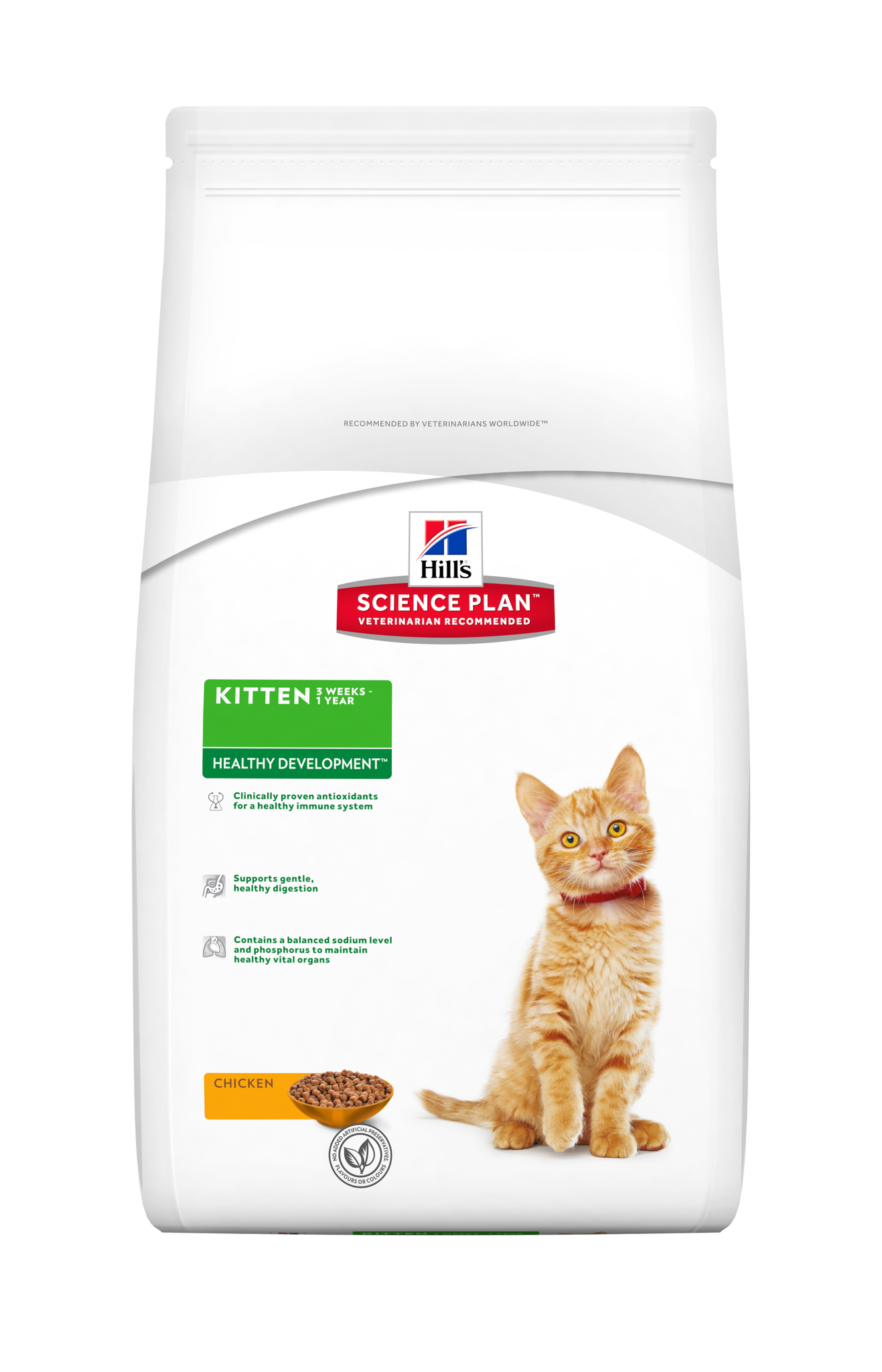 купить хиллс Hill's™ Science Plan™ Kitten Healthy Development Chicken корм для котят с курицей