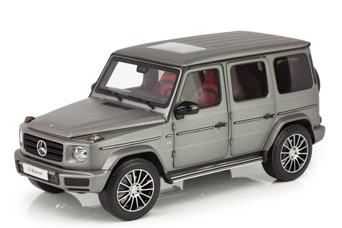 Коллекционная модель MERCEDES-BENZ W464 G-CLASS II NEW MODEL 2019 DESIGNO PLATINUM MAGNO GREY
