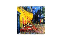 Тарелка квадратная Ночная терраса кафе (Ван Гог) без инд.упаковки Carmani
