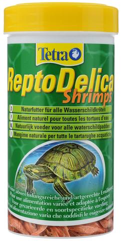 Tetra ReptoMin Delica Shrimps креветки лакомство для водных черепах 250мл
