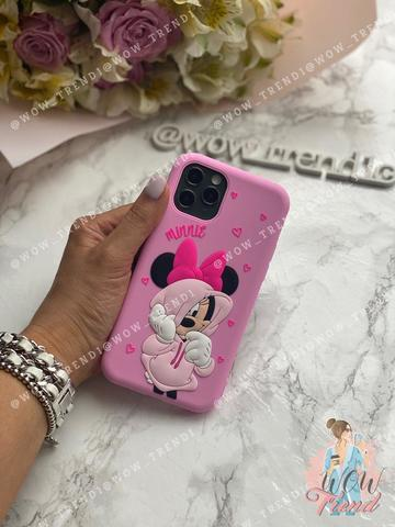 Чехол iPhone X/XS Disney Minnie Mouse /pink/