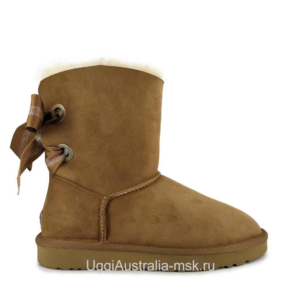 UGG Bailey Bow Customizable Chestnut