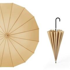 Японский зонт трость 16 спиц AKSISUR бежевый