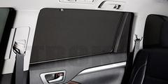 Каркасные автошторки на магнитах для Daewoo Gentra 2 (2013+) Седан. Комплект на задние двери