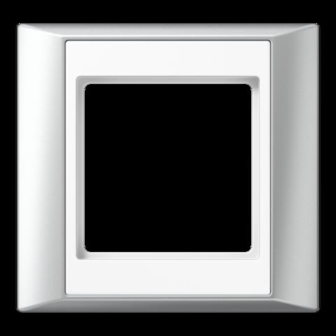 Рамка на 1 пост. Цвет Алюминий-белый. JUNG A PLUS. AP581ALWW