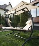 Двойное подвесное кресло качели Venera White