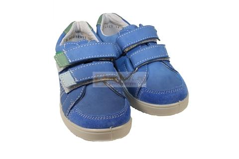 Полуботинки на липучках для мальчиков Котофей 432129-21, цвет голубой. Изображение 7 из 7.