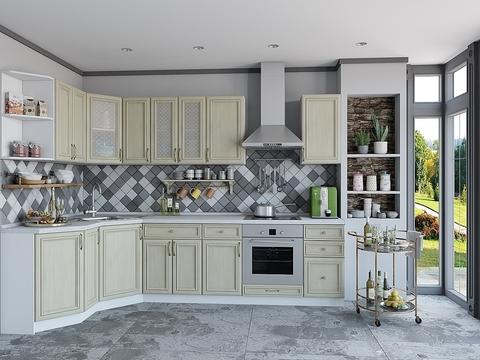 Кухня Шале-3 белый, veneziano