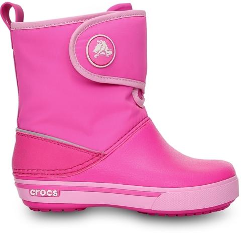 Фото Детские сапожки Крокс (Crocs) Crocband™ II.5 Gust Boot 12905 Neon Magenta/Carnation