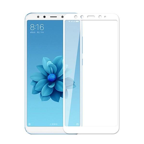 Стекло защитное 5d для Xiaomi Mi A2 (белый)