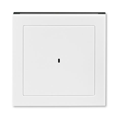 Лицевая панель карточного выключателя. Цвет Белый / дымчатый чёрный. ABB. Levit(Левит). 2CHH590700A4062