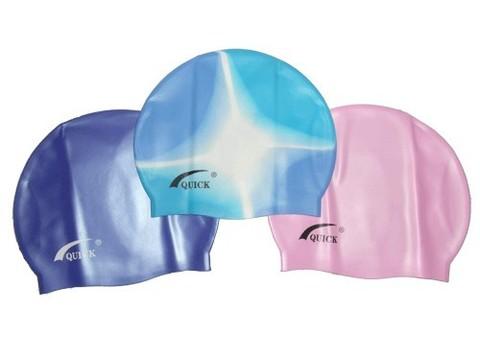 Шапочка для плавания QUICK. Материал: силикон. Упаковка: слюда. :(Q-300 Слюда):