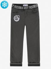 BWB000051 брюки для мальчиков утепленные, темно-серый