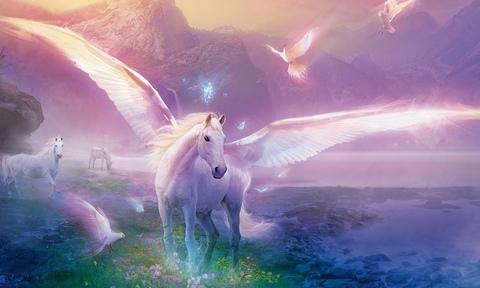 Алмазная Мозаика + Багет 40x50 Волшебные лошади