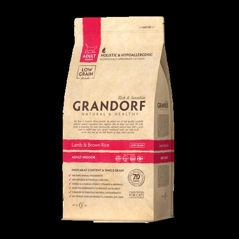 Grandorf Lamb & Rice Adult Indoor Сухой корм для домашних кошек Ягненок с рисом низкозерновой