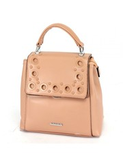 Рюкзак розовый из искуственной кожи