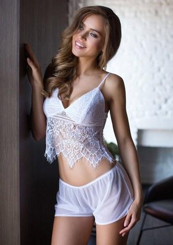 Красивая сексуальная пижама Evelin белая