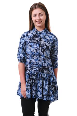 Блуза штапель огурцы