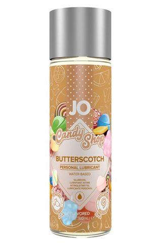 Смазка на водной основе Candy Shop Butterscotch с ароматом ирисок - 60 мл.