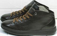 Мужские ботинки весна осень коричневые кеды мужские Ikoc 1770-5 B-Brown.