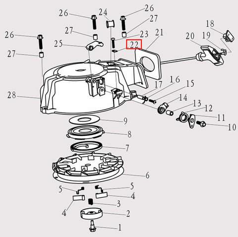 Пластина для лодочного мотора F9.8 Sea-PRO (8-22)