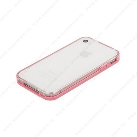 Бампер VSER для iPhone 4s/ 4 розовый
