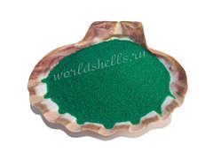 Зеленый песок декоративный цветной