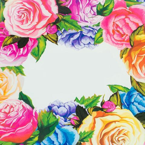 Печать на сахарной бумаге, Цветы 6