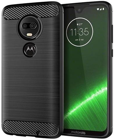 Чехол Motorola Moto G7 (G7 Plus) цвет Black (черный), серия Carbon, Caseport