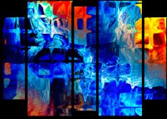 """Модульная картина """"Абстрактное стекло"""""""