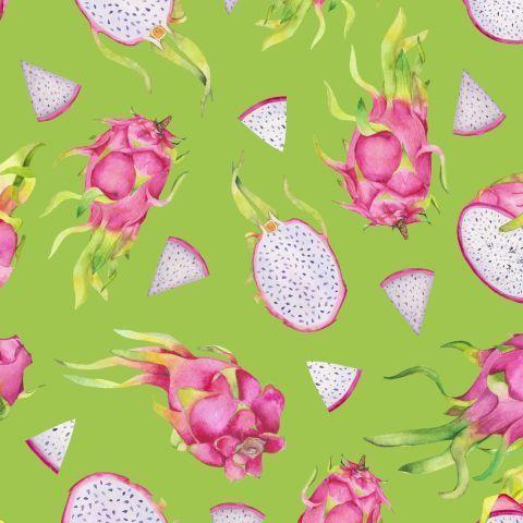 Акварельные драгонфруты на салатовом