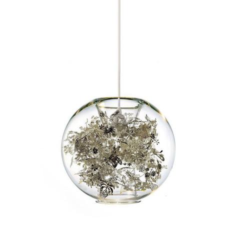 Подвесной светильник Tangle Globe by Artecnica (серебряный)