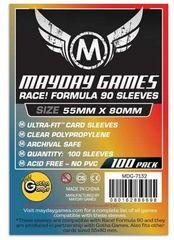Протекторы для настольных игр Mayday Race! Formula 90 Card (55x80) - 100 штук
