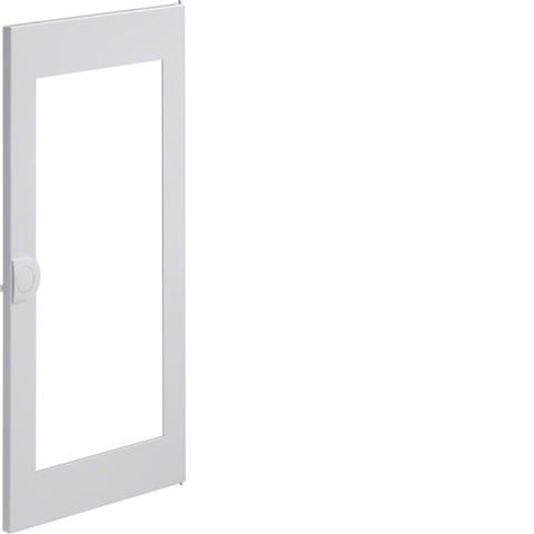 Дверца с прозрачным окном запасная, для встраиваемого щитка,Volta,4-рядного RAL9010