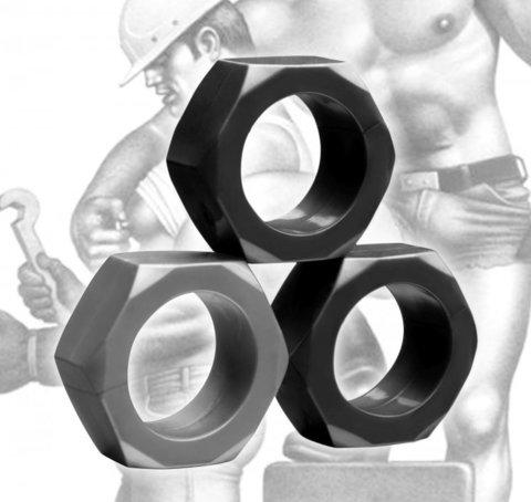 Эрекционные кольца - набор 3 шт - Tom of Finland