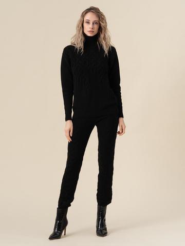 Женский свитер черного цвета из 100% кашемира - фото 3
