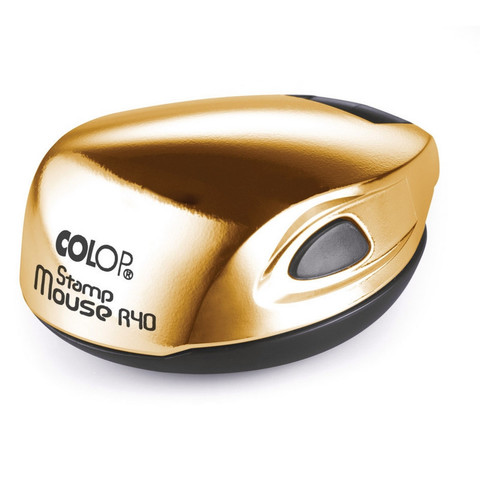 Оснастка для печати круглая Colop Stamp Mouse R40 40 мм золотистая