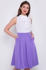 <p>Модная юбка со складками, на широком поясе с карманами. Сзади замок. (Длина: 44-46 =62см; 48-50=66см;).</p>