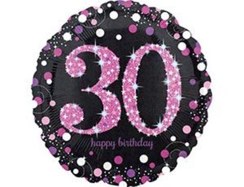Фольгированный шар HB Sparkling 30 розовый