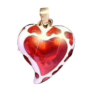 usb-флешка сердце с красным камнем оптом