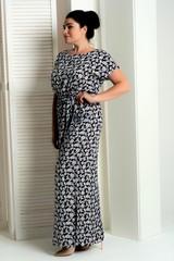 Стелла. Длинное платье больших размеров. Мелкие цветы