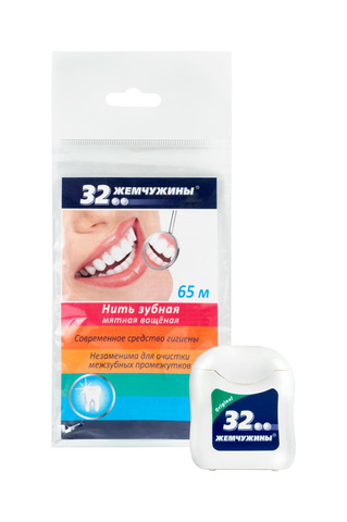 Modum 32 Жемчужины Нить зубная 65м