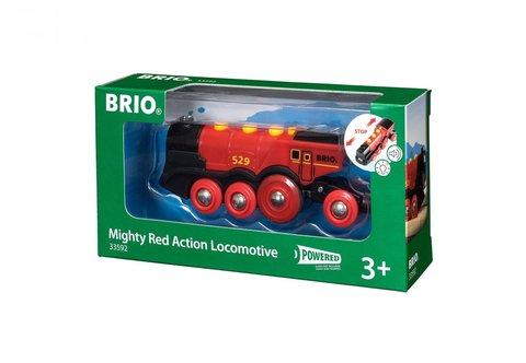 BRIO Паровоз красный. Движение вперёд-назад, свет, звук