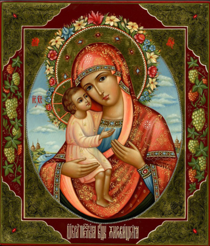 Икона Божией Матери Жировицкая на дереве на левкасе мастерская Иконный Дом