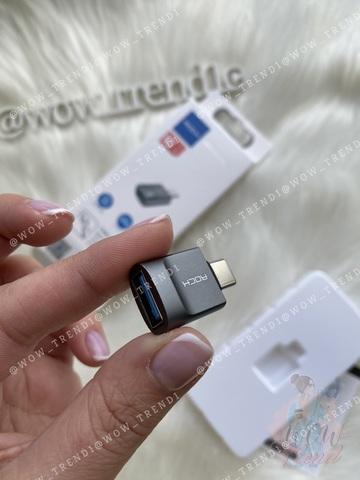Переходник Rock USB AF to Type-C To Adapter  /gray/