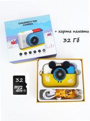 детская цифровая камера микки желтая комплектация